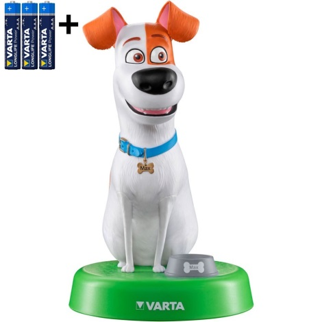Varta 15641 - LED Detská lampa THE SECRET LIFE OF PETS LED/3xAAA
