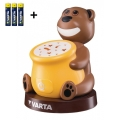Varta 17501 - LED Detská projektorová lampa PAUL 2xLED/3xAAA