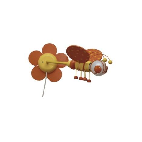 VČIELKA nástenka oranžová/žltá 1xE27/60W + vypínač