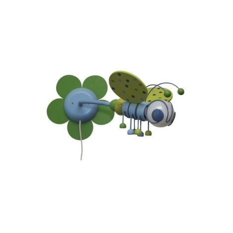 VČIELKA nástenka zelená/sv.modrá 1xE27/60W + vypínač