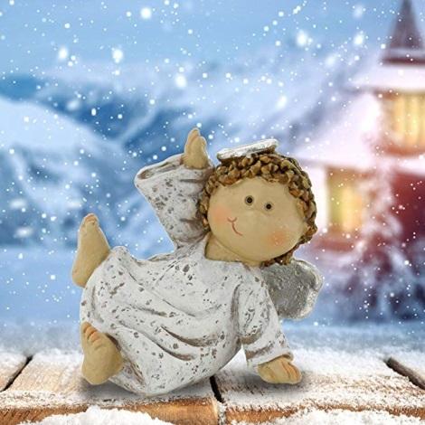Vianočná dekorácia anjel sediaci 7 cm