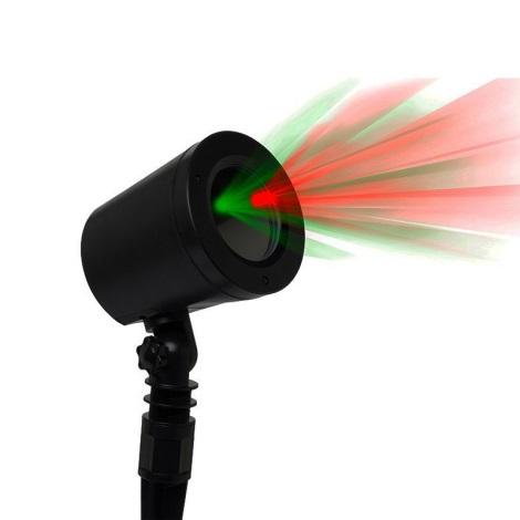 Vonkajší laserový projektor 7W/230V IP65 6 motívov