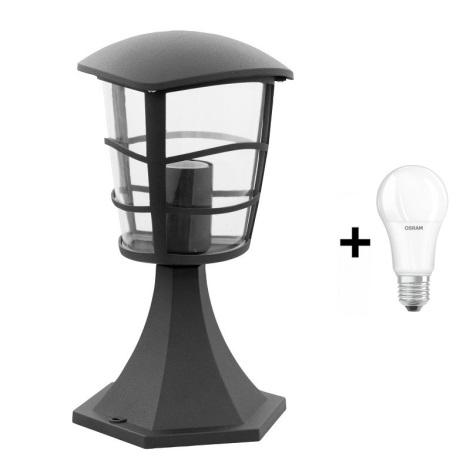 Vonkajšia lampa 1xE27/60W/230V cierna