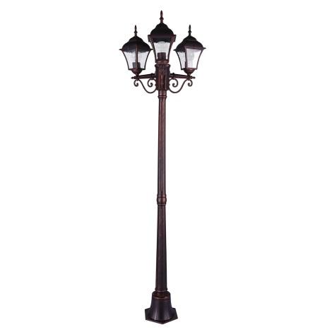 Vonkajšia lampa PARIS 2 3xE27/20W/230V