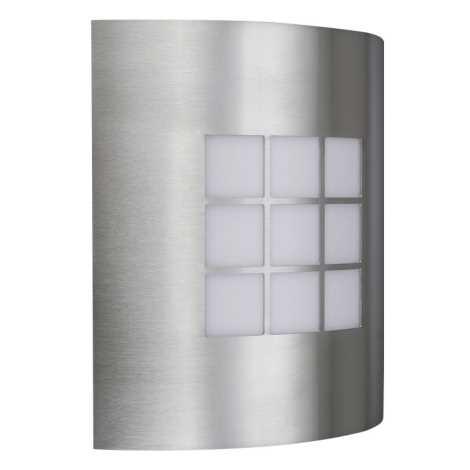 Vonkajšie nástenné svietidlo INOX 1xE27/60W/230V - 01812/91/47
