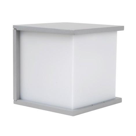 vonkajšie nástenné svietidlo NORDIC 1xE27/60W stříbrná