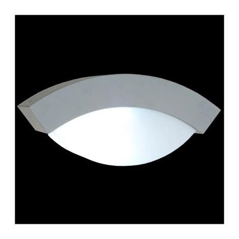 vonkajšie nástenné svietidlo OSLO 1xE27/14W stříbrná