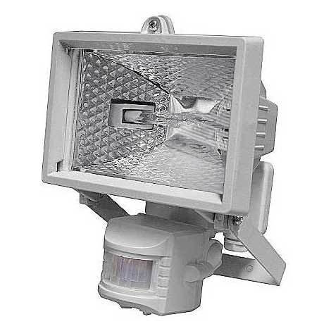 Vonkajšie reflektor s PIR čidlom T254 1xR7S-78mm/150W biela