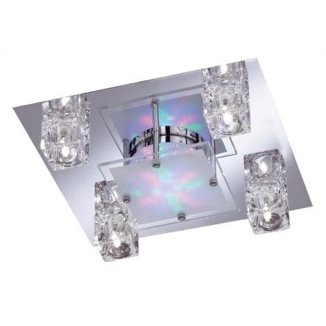 WOFI 9599.04.01.0000 - bodové svietidlo LAZIO 4xG4 RGB LED/20W