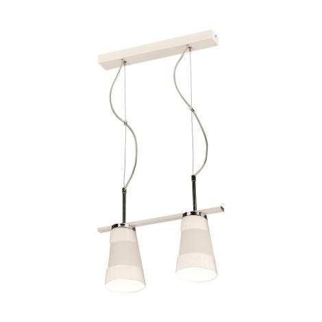 Závesné svietidlo FARGO 2xE27/60W biela