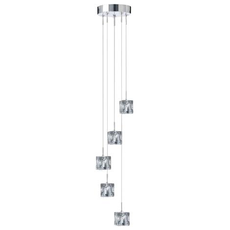 Závesné svietidlo ICE CUBES 5 5xG4/20W