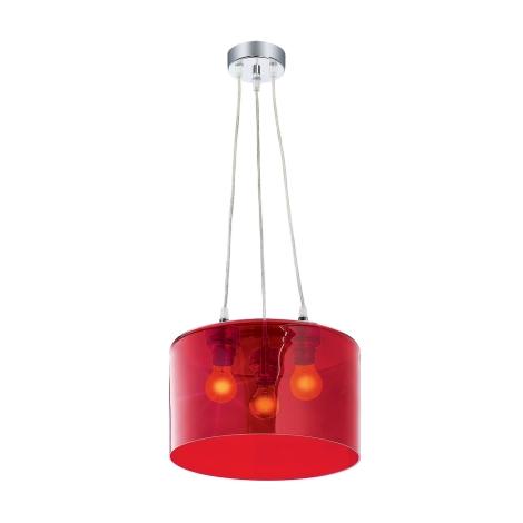 Závesné svietidlo MODERNA 3xE27/80W červená