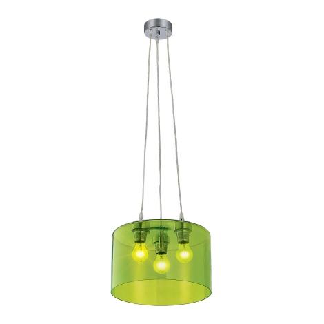 Závesné svietidlo MODERNA 3xE27/80W zelená