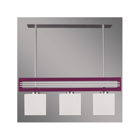 Závesné svietidlo SANGA 3xE14/60W fialová