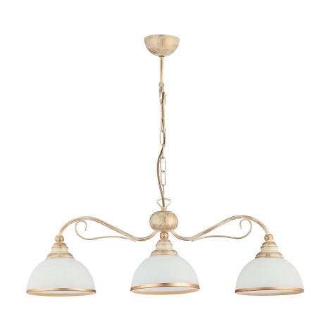 Závesné svietidlo XSARA 3xE27/60W patina - zlatá