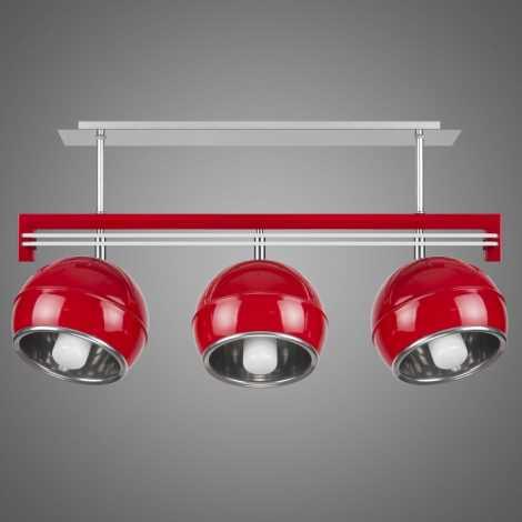 Závěsné svítidlo SANGA SG/KU/3/RD 3xE14/60W červená