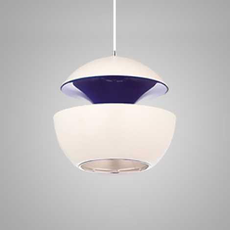Závesný luster COSMO COM 1xE14/40W biela/fialová