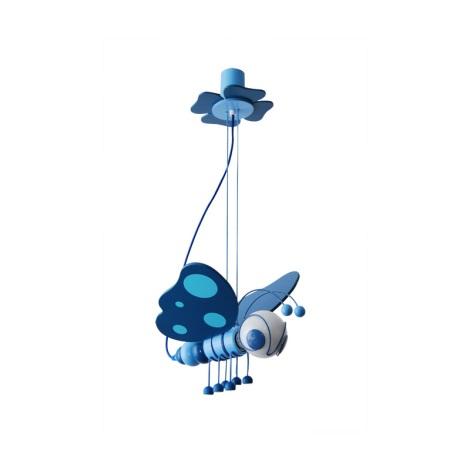 Závesný luster MOTÝL modrá