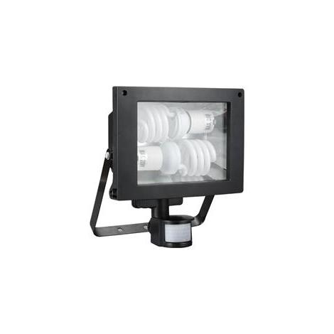 Žiarivkový reflektor sa senzorem TOMI 2xE27/20W/230V b čierna
